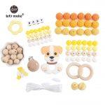 Let's Make 1set Lovely Dog DIY <b>Handmade</b> Set Making <b>Jewelry</b> Necklace Silicone Beads Teething Nursing Accessories BPA Free Teether