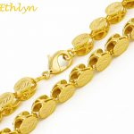 Ethlyn Brand Length 60cm/ Width 8mm Ethiopian/Eritrean <b>Jewelry</b> Chain <b>Handmade</b> Gold Color Thick Necklaces &Chain N032