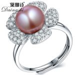 Dainashi Good 100% Natural Stone Freshwater beads for <b>jewelry</b> making Pearl <b>Jewelry</b> 925 Sterling <b>Silver</b> Rings adjustable rings