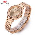 MINI FOCUS Top Brand Quartz Womens Watch Ladies <b>Silver</b> <b>Bracelet</b> Watches for Woman Luxury Dress Rhinestones Femme Wristwatch