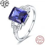 J.C For Unisex Fine <b>Jewelry</b> Highly recommend Ruby &Tanzanite & White Topaz Real Solid 925 <b>Sterling</b> <b>Silver</b> Ring Size 6 7 8 9