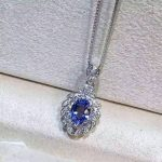 natural blue tanzanite pendant S925 <b>silver</b> Natural gemstone Pendant Necklace trendy Luxury elegant fruit women gift <b>jewelry</b>