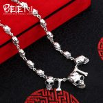 Beier new store 100% 925 <b>silver</b> <b>sterling</b> necklaces pendants punk skull fine <b>jewelry</b> chains necklace for men BR925XL022