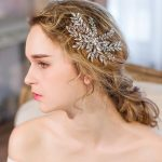 Clear crystal bridal hair comb silver leaves bridal hair accessories <b>handmade</b> wedding hair ornaments women party hair <b>jewelry</b>