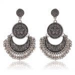 SHOWTRUE Vintage Zinc alloy Metal Earrings with Bead For women Earrings Ethnic Hanging earrings <b>Native</b> <b>American</b> <b>Jewelry</b>