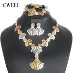 CWEEL <b>Jewelry</b> Sets Women Wedding African Beads <b>Jewelry</b> Set Trendy Flower Turkish Bridal Costume Antique Dubai <b>Jewelry</b> Set