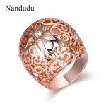 Nandudu Hollow <b>Image</b> Ring with Austrian Crystal Ball Shape Style Women Girl Lady Rings Accessories <b>Jewelry</b> Gift R1865