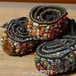 HDC0631 Indian hand Sewed Colorful Glass Beads BOHO Embroidered waistband,lady decor belt <b>Fashion</b> Cute Belts