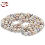 SNH 10-11mm AA near round Elegant rearl freshwater Pearl <b>Necklace</b> Women Pearl Bead <b>Necklace</b> Wholesale for girlfriend gift