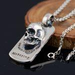 FNJ 925 <b>Silver</b> Skull Pendant New Fashion Punk Skeleton 100% Pure S925 Solid Thai <b>Silver</b> Pendants for Women Men <b>Jewelry</b> Making