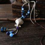 925 sterling <b>silver</b> handmade <b>silver</b> fish pendants retro ethnic style <b>silver</b> beads tassels ladies sweater chain