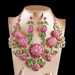 LAN PALACE boutique wedding <b>jewelry</b> set big flowers Corsage Austrian crystal <b>necklace</b> and earrings for wedding free shipping