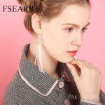 <b>Handmade</b> Glass Long Earrings For Women Silver 925 <b>Jewelry</b> Rainbow Beads Tassel Earrings Hypoallergenic Drop Earings Pendientes
