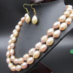 HOT 36″ AAA 11x13MM SOUTH SEA GOLD PINK PEARL NECKLACE 18″ <b>EARRING</b> 925silver YELLOW