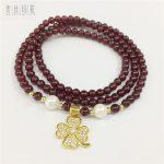 Women Trendy Necklaces Handmade Diy Brand <b>Jewelry</b> Women Beads Stone Rhinestone Copper Clover Charms Pendant 2018 New <b>Make</b>