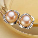 Eternal wedding Women Gift word 925 <b>Sterling</b> <b>silver</b> real Special offer all-match elegant natural Pearl <b>Earrings</b> <b>Sterling</b> <b>Silver</b>