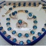 Women's Wedding shipping>> Stone Set Necklace Bracelet Earrings Ring silver mujer moda silver-<b>jewelry</b>