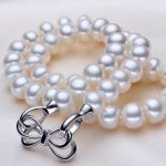 ASHIQI 100% AAAA white10-11mm Big Pearls, Natural Freshwater Pearl Necklace For Women ,<b>sterling</b> <b>silver</b> <b>jewelry</b> mother gift