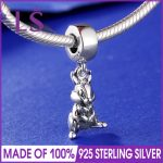 New Arrival 925 <b>Silver</b> Thumper Dangle Charm Fit Original Bracelets&<b>Necklace</b> 2017 Winter New Year Christmas DIY Beads Wholesale N