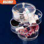 RSCGEF 1pcs <b>Jewelry</b> Box Exquisite <b>Fashion</b> Revolving Box Multifunctional Round Acrylic makeup organizer storage
