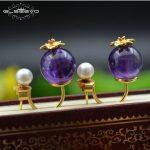 GLSEEVO Natural Amethyst Pearl <b>Earrings</b> For Women Wedding Drop <b>Earrings</b> Handmade 925 Sterling <b>Silver</b> Jewellery Brincos GE0477