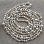 Charming Real Pearl <b>Jewelry</b>,60inches Long AA 5-11MM White Color Genuine Freshwater Pearl Necklace <b>Wedding</b> Party <b>Jewelry</b>.