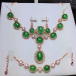 Koraba Fine Jewelry 925 Sterling <b>Silver</b> Inlaid Natural Green Chalcedony Pendant Necklace Bracelet <b>Earrings</b> Set Free Shipping