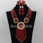 New 2017 Fashion African Beads <b>Jewelry</b> Set Nigerian Wedding Crystal Beads <b>Necklace</b> Bridal <b>Jewelry</b> Sets Free Shipping ABF523