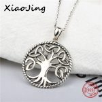 2018 new design 925 sterling silver round shape tree of life pendant chain necklace diy fashion <b>jewelry</b> <b>making</b> for women gifts