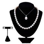 RUNZHUQIYUAN 2017 925 <b>sterling</b> <b>silver</b> <b>jewelry</b> Pearl <b>Jewelry</b> Sets Water Drop Natural Freshwater Pearls Send Chain pearl For Women
