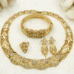 Liffly Fashion Elegant Women Accessories Big Gold Necklace <b>Jewelry</b> Sets AB Crystal Dubai African Bride Beads For <b>Jewelry</b> <b>Making</b>