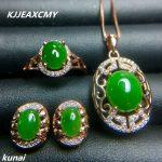 KJJEAXCMY Fine jewelry, 925 <b>silver</b> inlaid natural Jasper set jewelry, women's portfolio portfolio wholesale