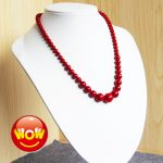 6-14mm Natural Gifts Imitation Red Pearl Necklace Women Girls Gifts Beads Natural Stone 15inch Fashion <b>Jewelry</b> <b>Making</b> Design