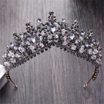 Vintage Baroque Black Crystal Queen King Crown For women <b>Wedding</b> Bridal Tiara Hair Ornaments Bride Hair <b>Jewelry</b> Accessories