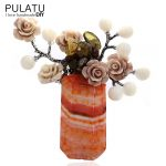 PULATU Original <b>Handmade</b> Bunch Brooches for Women Natural Stone Pendant Fashion <b>Jewelry</b> Bride Wedding Brooch Pins B2L4-9