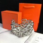 Hot Brand Pure 925 Sterling Silver <b>Jewelry</b> For Women Men Letter Round H Lock <b>Jewelry</b> Silver Bangle France Quality