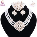 New Year Gift~Beads Choker Classic crystal simulated-pearl Nigerian African Beads <b>Jewelry</b> Set Wedding Party Queen <b>Jewelry</b> Sets