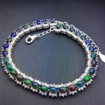 Luxurious link natural black opal Bracelet Natural gemstone bracelet S925 <b>silver</b> Romantic woman girl party gift fine <b>jewelry</b>