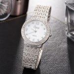 CUSSI 2018 New <b>Silver</b> Women Watches Luxury Quartz Wristwatches Crystal Ladies <b>Bracelet</b> Watch reloj mujer Clock relogio feminino
