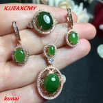 KJJEAXCMY boutique jewels 925 diamond necklace with natural jasper necklace pendant ring <b>earrings</b> with three sets of bridal jewe