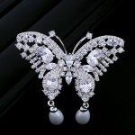 Hotsale Luxury <b>Jewelry</b> <b>Accessory</b> Cubic Zircon Solid Butterfly Brooch Pin Women Scarves Buck 0012846