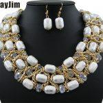 Statement necklace 2018 fashion Crystal <b>jewelry</b> sets <b>Handmade</b> bead chain big dubai <b>jewelry</b> sets Vintage beads Bijoux Accessories