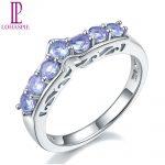 Lohaspie Stone <b>Jewelry</b> Natural Tanzanite Promise Ring Pure 925 Sterling <b>Silver</b> Wedding Band Rings Gemstone Fine Fashion <b>Jewelry</b>