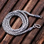 MetJakt Vintage Twist Chain Necklace & Handmade Woven Necklace Solid 925 <b>Sterling</b> <b>Silver</b> Chain for Women and Men <b>Jewelry</b>