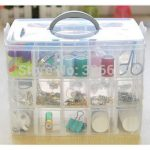 Free shipping many small grids new <b>fashion</b> storage box <b>jewelry</b> box glossy 30 small boxes 3 layers modern rectangle storage box