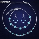 <b>Jewelry</b> Sets For Women Wedding Bridal Party Crystal From Swarovski High Quality Statement Pendant <b>Necklace</b> Earrings Bracelet Set