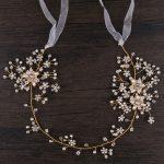 Elegant <b>Handmade</b> Crystal Pearl Wedding Headband Bridal Headpiece Women Hair <b>Jewelry</b> Head Decoration Wedding Hair Accessories