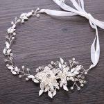 Duolafine Gold&Silver Color <b>Handmade</b> Crystal Pearl Flower Bridal Headband tiara Wedding Headpiece Hair <b>Jewelry</b> Accessories FD088