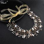 Miallo Fashion Austrian Crystal <b>Handmade</b> Women Headbands Wedding Hair Accessories Bridal Head <b>Jewelry</b> Flexible Gold Headpieces