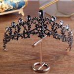 Vintage Luxury Hair Charm Crystal Black Tiara Headbands Beauty Rhinestone Wedding Prom Crown Bridal Baroque Head <b>Jewelry</b> Pieces